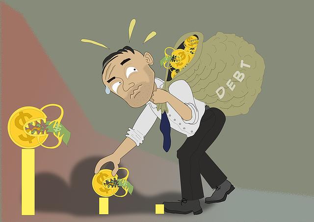 požírání dluhy