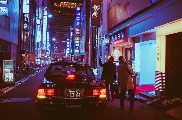 japonské taxi